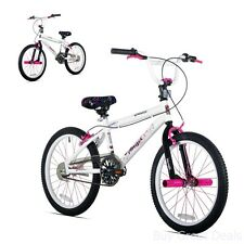 Razor Angel 20-Inch Girls BMX Bike, Strong Steel Frame and Fork Kids Bike, White