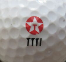 (1) TEXACO CORPORATION OIL GAS PETROLEUM COMPANY LOGO GOLF BALL