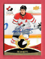 2016-17 Joe Hicketts Upper Deck Team Canada Juniors Auto Patch 133/199 - Detroit