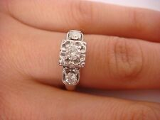 !NICE 0.50 CT T.W. ANTIQUE ENGAGEMENT RING 2.9 GRAMS 14K TWO TONE GOLD SIZE 6.75