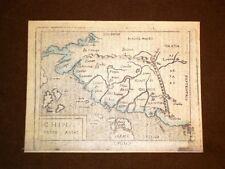 Mappa Cina Theatrum Orbis Terrarum 1724 Abraham Ortelius A.Ortelio Ristampa