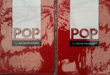 SHERIDAN POP RONIN POPPY / RED STANDARD PILLOWCASES  - BRAND NEW -