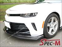 R1 Extended Carbon Fiber Front Bumper Lip Spoiler For 16-18 Camaro I4 V6 RS CF