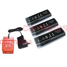 3 Batteries For Paslode 6V Gas Nail Gun Nailer 2.0Ah Ni-Cd IM250A 900400+charger