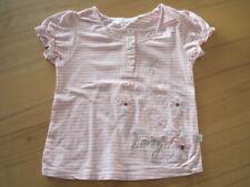 98 Kanz T-Shirt Shirt kurzarm blau weß gestreift Baumwolle Rundhals Mädchen Gr