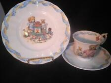 Queen's China Fine Bone CHina Tale of Teddies Trio Cup Saucer Plate England MInt