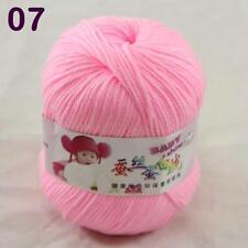 Sale 1ball 50g Baby Cashmere Silk Wool Children hand knitting Yarn 07 Pink Ice