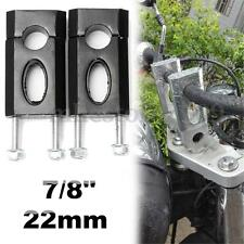 Aluminum 7/8'' 22mm Handlebar Clamp Riser Mount 110cc 125cc Dirt Pit Bike ATV