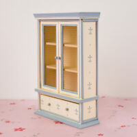 1:12 Dollhouse Mini Furniture Wooden Display Cabinet Bookcase DIY Accessory