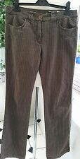 "Sportmax Code By Max Mara striped Brown Trousers Uk 12 ~ 34"" Leg. VGC 32"" WAIST"