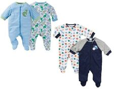 Gerber Baby Boy 4-Piece Sleep N' Plays Dinos/Sports Bundle Clothes Set Size 0-3M