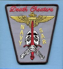 SAR SEARCH AND RESCUE SWIMMER DEATH CHEATER Sword US Navy Squadron Jacket Patch