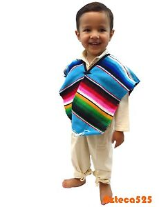 Mexican Serape Poncho for Children and Teen