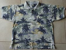 TOMMY BAHAMA Tropical Polo Shirt LIFE IS ONE LONG WEEKEND Mens Large Cotton NICE
