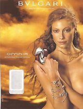 PUBLICITE BVLGARI Omnia  avec Akyssa Sutherland 2004 BULGARI