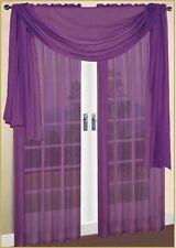 "Sheer / Scarf Window Treatments Curtains Drape Valances 63"" 84"" 95"" Purple"