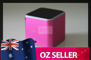 Wireless Bluetooth portable speaker iphone ipod Samsung HTC Micro SD - PINK
