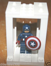 Genuine Lego Marvel Superheroes Captain America & Shield in Display Case NEW