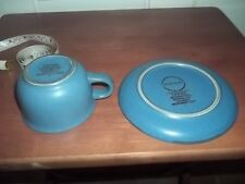 Dansk  Pottery Cup and Saucer in Blue
