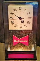Vintage Budweiser Table Top Bar Clock Lit Roman Numeral W/ Customizable Letters!