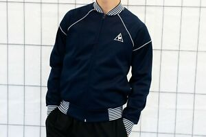 Lecoq sportif Vintage 80s 90s Jacke jacket Sweater Gr. ca M Dunkelblau SD4