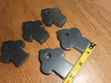 "Weld On Steel Flat Tab Brackets 1"" x 2 1/2"" x 1/8"" 25 Brackets 3/8 hole acorn"