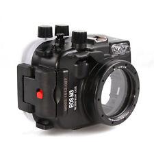 Meikon 40m 130ft Underwater Housing Waterproof Case for Canon EOS M3 22mm Lens