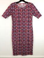 LulaRoe Womens S Red Stretch Knit Dress