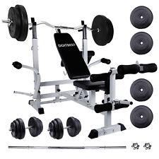 Banco set de pesas multifunción con 110kg pesas set