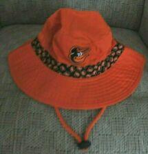 Baltimore Orioles Orange Floppy Beach Fishing Hat w Adjustable Draw String