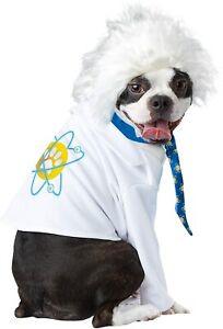 Einstein Dog Costume - XS or S - Jacket, Tie & Crazy Hair Wig - Halloween- NWT