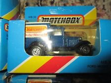 "92 MATCHBOX MB38  ""MATCHBOX ON THE MOVE IN '84"" Model A FORD Trucks w Free ship!"