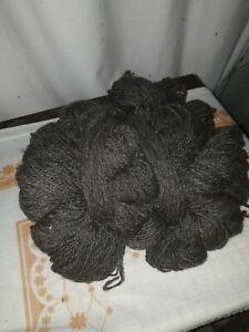 100% Natur Wolle Schafwolle Schurwolle 1kg Naturprodukt NEU Dunkelgrau
