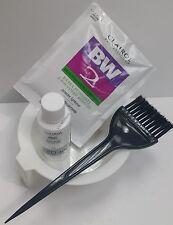 CLAIROL BW2 Powder Hair Bleach Lightener 1oz + Developer 20V 2oz + Bowl + Brush