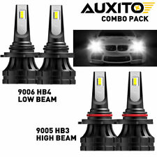 AUXITO 9005 9006 Combo LED Headlight Kit High Low Beam Bulbs Cool White 6000K 4X