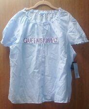 Nwt zod Women's Plus Size 3X Blue Short S. Pajamas Top Cotton keeps you Cooler