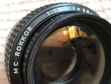 Minolta 58mm f1.2 ROKKOR MD pro prime lens (MK II 50mm) +Hoya HD & Vented Hood