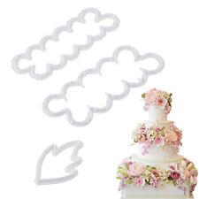 3PCS Peony Flower and Leaf Fondant Cutter Cake Mold Sugar Craft Decorating Tool
