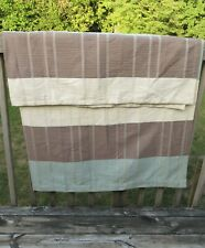 Croscill fabric  shower curtain brown beige striped 70x71