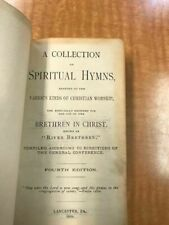 River Brethren Hymnal 1902 4th Edition Lancaster PA Leatherbound