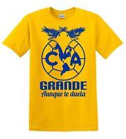 Club America Mexico Aguilas Camiseta T Shirt Odiame Mas Soccer Football Yellow