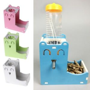 Small Pet Water Bottle Holder Hamster Rabbit Food Feeder Dispenser Nest Toy