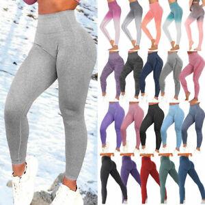 Womens Gym Seamless Fitness Leggings High Waist Exercise Sports Yoga Pants Shark