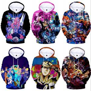 Jojo's Bizarre Adventure Hoodie Sweater Jacket Coat Hooded Sweatshirt Cosplay