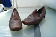 schicke SEMLER Damen Comfort Schuhe Pumps Leder mit Einlagen Gr.5 H 38 braun Neu