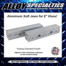 "2 x 2 x 10"" Extruded Aluminum Soft Jaws for 6"" Kurt Vise Chick Te-co Toolex"