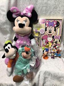Melissa & Doug Disney Minnie Mouse Button-Match Wooden Lacing Set New! & Extras!
