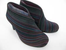 UN UNITED NUDE FOLD OVER STRIPED TEXTILE LEATHER LINE BOOTIES BOOT ANKLE SHOE~36