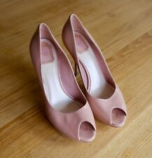 6d7c674383e Christian Dior Miss Dior Peep Toe High Heels Nude Pink Size 40 Dustbag and  Box