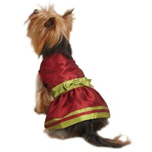 Holiday Red Shimmer Dress Size XS Dog Clothes East Side Collection